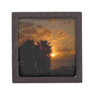 Días de la gloria de la puesta del sol caja de regalo de calidad