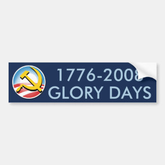 Días de la gloria pegatina para auto