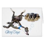 Días de la gloria tarjeta de felicitación