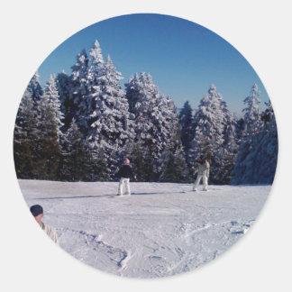 Días de la nieve pegatinas redondas