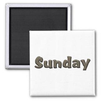 Días de la semana - domingo imán cuadrado