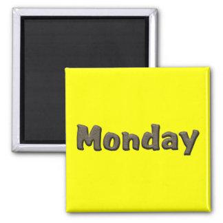 Días de la semana - lunes imán cuadrado