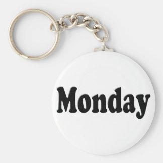 Días de la semana - lunes llavero redondo tipo pin
