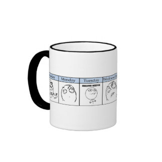 Días de la semana Memes Taza De Café