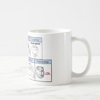 Días de la semana Memes Tazas De Café