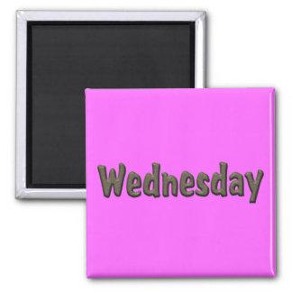 Días de la semana - miércoles imán cuadrado