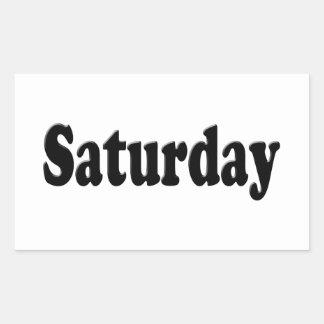 Días de la semana - sábado pegatina rectangular