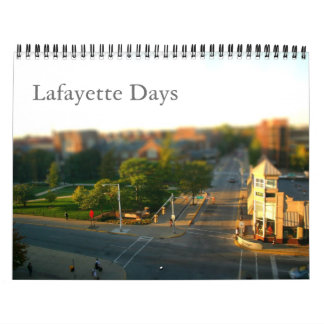 Días de Lafayette Calendarios De Pared