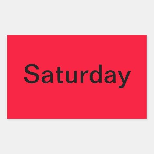 Días de las herramientas de la representación pegatina rectangular