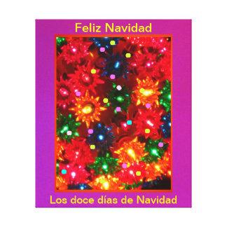 Días de Navidad del doce del Los - lienzo Lámina d Impresión De Lienzo