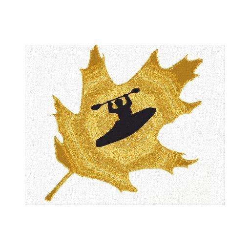 Días de oro del kajak lienzo envuelto para galerias