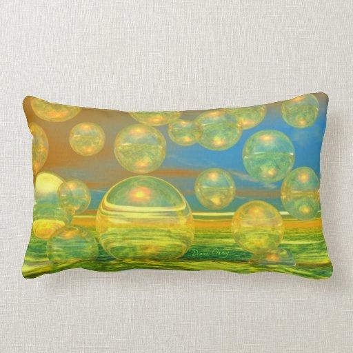 Días de oro - tranquilidad del amarillo y del azul almohada