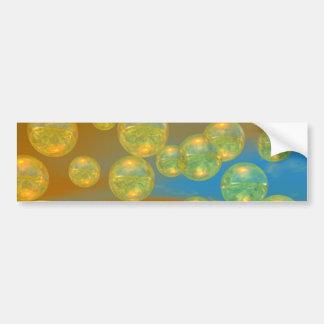 Días de oro - tranquilidad del amarillo y del azul etiqueta de parachoque