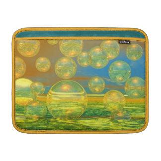 Días de oro - tranquilidad del amarillo y del azul fundas para macbook air