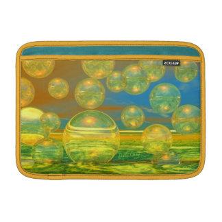 Días de oro - tranquilidad del amarillo y del azul fundas macbook air