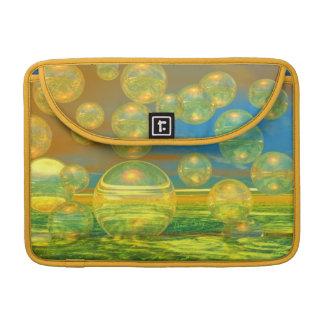 Días de oro - tranquilidad del amarillo y del azul funda para macbook pro