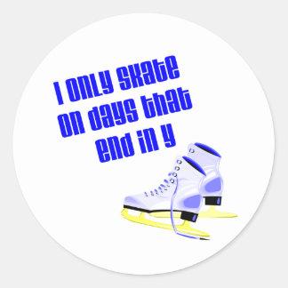 Días de SkateChick Pegatina Redonda