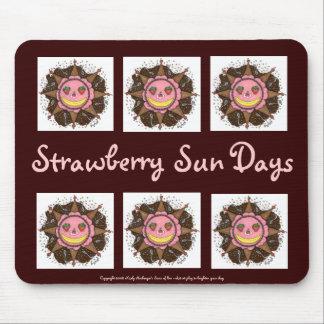Días de Sun de la fresa - Mousepad (marrón)