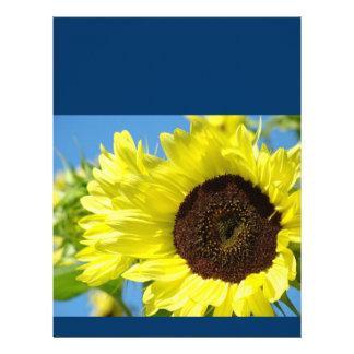 Días de verano amarillos de papel del girasol del  membrete personalizado