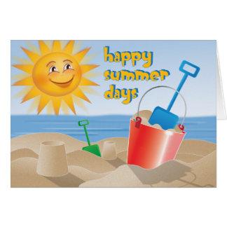 Días de verano felices tarjeta de felicitación