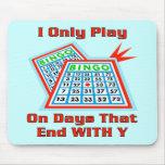 Días del bingo tapetes de ratones