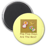 Días del flip-flop iman de nevera