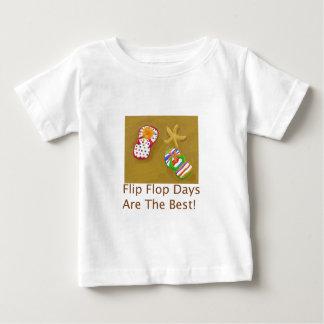 Días del flip-flop playera para bebé