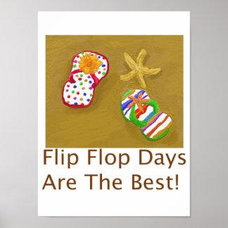 Días del flip-flop póster