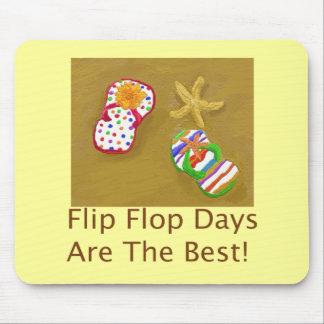 Días del flip-flop alfombrillas de ratón