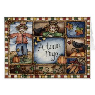Días del otoño - tarjeta de felicitación