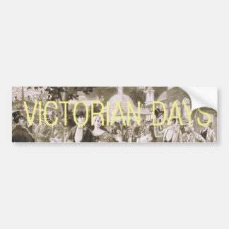Días del Victorian de la CAMISETA Pegatina Para Auto