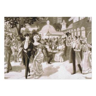 Días del Victorian de la CAMISETA Tarjetas De Visita Grandes