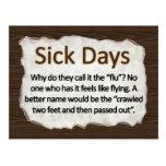 Días enfermos postales