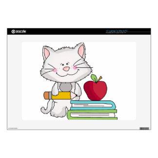 Días escolares con el gato 38,1cm portátil calcomanía
