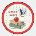 Días escolares etiquetas