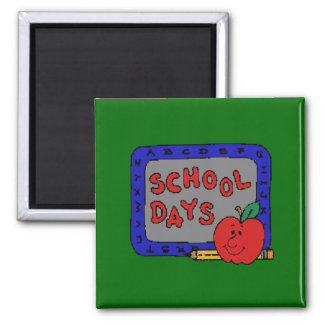 Días escolares imán cuadrado