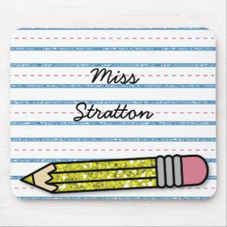 Días escolares lápiz y Mousepad personalizado