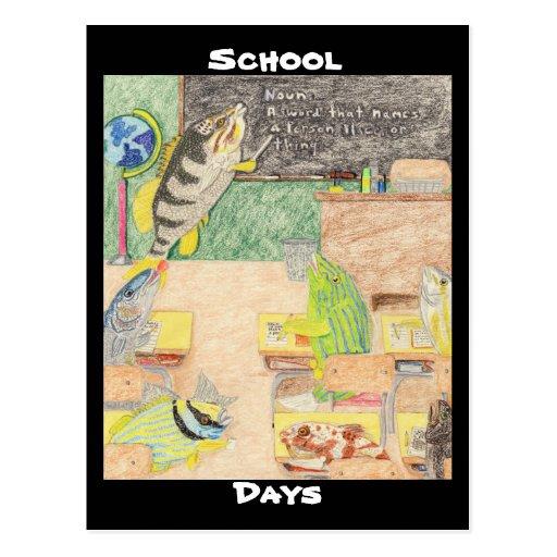 Días escolares postal