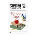 Días escolares sello