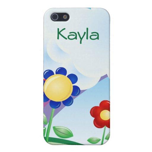 Días felices 4 florales iPhone 5 funda