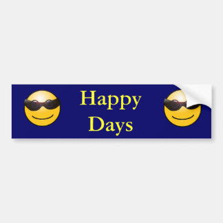 Días felices etiqueta de parachoque