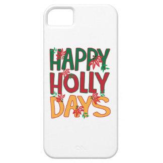 Días felices del acebo iPhone 5 carcasas