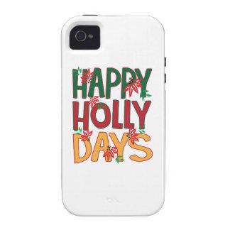 Días felices del acebo Case-Mate iPhone 4 fundas