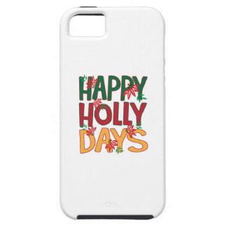 Días felices del acebo iPhone 5 Case-Mate carcasa