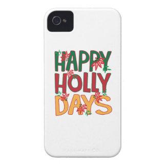 Días felices del acebo iPhone 4 protector