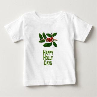 Días felices del acebo playera de bebé
