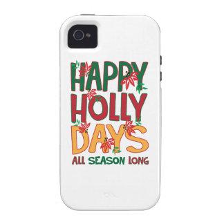 Días felices del acebo toda la estación iPhone 4/4S carcasa