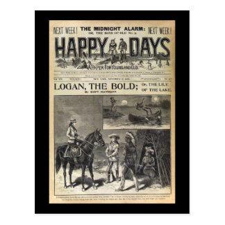 Días felices un papel para 1905 joven y viejo tarjetas postales