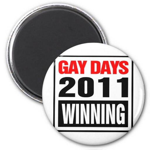 Días gay imán de nevera