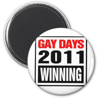 Días gay imán redondo 5 cm